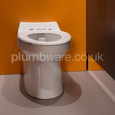 Ideal for Junior and Infant use, this rimless WC pan is capable of flushing on 4 litres to meet BREEAM specifications. Fully shrouded and easy to clean. Commercial Toilet, Toilet Cistern, Washroom, Toilets, Classroom Ideas, Infant, Nursery, Meet, Cleaning