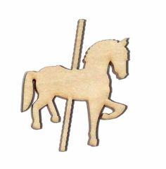 Carousel Fancy Horse Unfinished Wood Shape CH5222 Crafts Lindahl Woodcrafts #LaserwoodysLindahlWoodcraftsLaserCrafts
