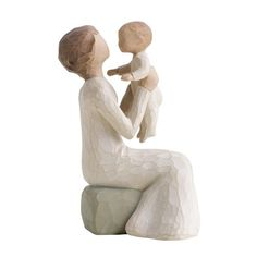 DEMDACO Willow Tree Figurine, Grandmother - DEMDACO Willow Tree Figurine, Grandmother A unique love that transcends the yearsFigurine is tallWillow tree is not necessarily a likeness, it's a way of conveying emotionArtist Susan lordi hand c Willow Tree Figures, Willow Tree Angels, Willow Figurines, Willow Tree Grandmother, Calling All Angels, First Time Grandma, Tree Sculpture, Collectible Figurines, Grandma Gifts