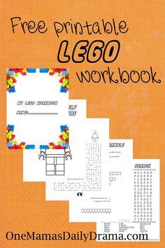 Free Lego Printable Workbook for Kids Party Ideas
