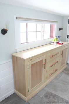DIY extra long sideboard with free plans