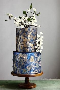 MIXED MEDIA ART WEDDING CAKE