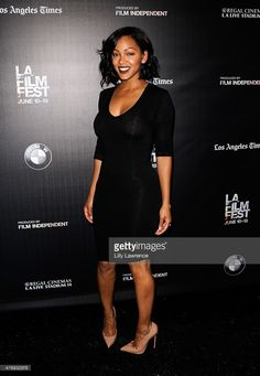 Actress Meagan Good attends the 'A Girl Like Grace' screening during the 2015 Los Angeles Film Festival at Regal Cinemas L. Live on June 2015 in Los Angeles, California. The Most Beautiful Girl, Beautiful Black Women, Pretty Woman Quotes, Megan Good, Los Angeles Film Festival, Fit Women Bodies, Celebs, Celebrities, Female Models