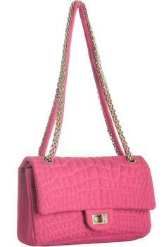 Chanel Pink Quilted Jersey Shoulder Bag