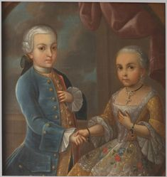 Portrait of Two Children of the Aristocracy, 18th Century. Made in Mexico with oil on a canvas. I thought this painting was very interesting looking.
