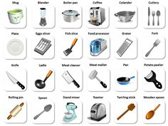 Restaurant Kitchen Vocabulary english vocabulary - kitchen tools and utensils | english study