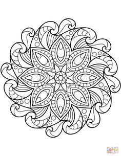 4 Mandala Coloring Pages Mandala Colour Fun √ Mandala Coloring Pages . 4 Mandala Coloring Pages . Mandala Coloring Pages for Kids to and Print for in Mandala Art, Mandalas Painting, Mandalas Drawing, Flower Mandala, Mandala Pattern, Zentangle Patterns, Zentangles, Pattern Coloring Pages, Flower Coloring Pages