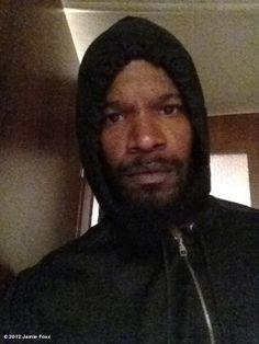 Jamie Foxx ... Hoodie on... We will not forget Trayvon Martin