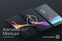 Looped Animated Mockups Black Graphics ? ??**ANIMATED MOCKUPS**§³heck video preview to view all scenes? **New Way of Presentations** by LS