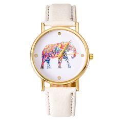 NEW Fashion Hippie Elephant watch Woman Golden Women wristwatch Vintage PU leather casual dress watch Geneva Style Drop shipping #women, #men, #hats, #watches, #belts, #fashion