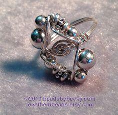 Celtic Knot Ring - 4 Leaf Clover design - Copper and Sterling ...