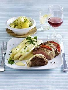 Filet Caprese zu Spargel mit Hollandaise Rezept
