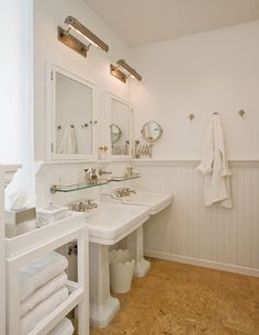 Picture Lights in the Bathroom from Brooklyn Home Company | Remodelista