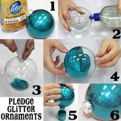 6 Step Pledge Glitter Ornaments   DIY