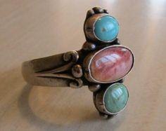 Navajo plata anillo turquesa madre de perla ostra por griffincat