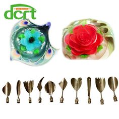 2016 new design 3d jelly tools ,stainless steel 3D Jelly Flower art gelatin tools Jello cake decorating tools 10 PCS/SET C