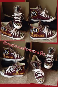 787a3ebd2a19fc Sean Taylor tribute custom Redskin converse by me  melscustomcrafts    not  a licensed