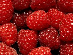 Here are some interesting health facts about RED RASPBERRIES!    1. They do not have any fat, saturated fat, sodium or cholesterol  2. They are high in fiber, vitamin C, potassium and folate.  3. They are low in calories  4. They can help lower high blood pressure  5. Raspberries have an anti-inflammatory property