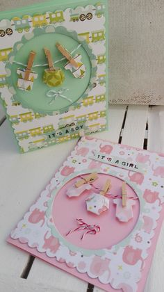 BABY+CARD+DUO - Scrapbook.com #it'saboycard #it'sagirlcard #babycard #echoparlpaper