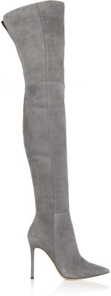 Love this: Gianvito Rossi Suede Overtheknee Boots @Lyst