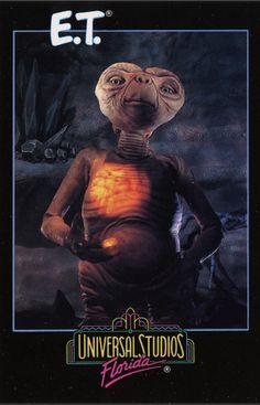 E.T The Ride Postcard