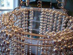 Much To Do With Nothing: DIY Chandelier Idea On A Budget! - made with metal wreath form