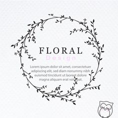 Vine Drawing, Floral Drawing, Floral Watercolor, Design Floral, Floral Logo, Hand Embroidery Patterns Flowers, Hand Embroidery Designs, Vine Logo, Simple Line Drawings