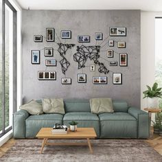 Hang your travel photos around the world map and inspire your guests with this unique decor. World Map Wall Decor, Wall Maps, Wall Art Decor, Room Decor, Metal Walls, Metal Wall Art, Memory Wand, Travel Wall, Photo Wall Art