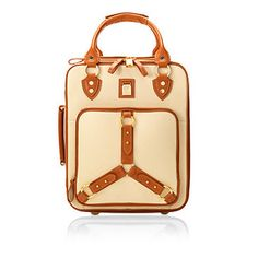 cute roller suitcase?  yes!!!  Revival Roller Cabin Bag in Cream Pebble & Smooth London Tan - Aspinal of London