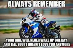 93 Biker Quotes memes colection for bike lovers wheel throttle gear therapy rider Shared by Motorcycle Fairings - Motocc Motorcycle Memes, Motorcycle Outfit, Motorcycle Bike, Easy Rider, Rider Quotes, Bike Humor, Gs500, Honda, Super Bikes