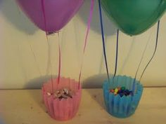 """Sky VBS centerpieces - I think I will use my silicone baking cups for the """"baskets"""""""