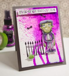 Hi again!   This is another fun project made with new MFT goodies.  I LOVE Hallowe'en, but I'm one of THOSE people who don't send out cards...