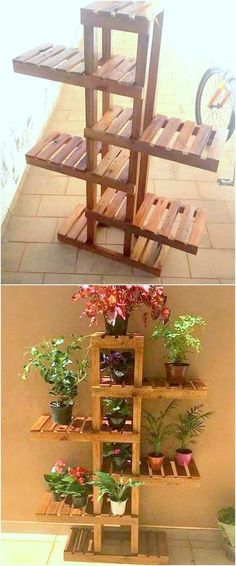 Pallet Furniture Projects deluxe pallet wooden planter idea - To decorate a home in a maximum way is the dream of every woman. They feel pleasure and satisfaction when Wooden Crate Furniture, Diy Pallet Furniture, Garden Furniture, Furniture Ideas, Furniture Cleaning, Furniture Online, Furniture Outlet, Discount Furniture, Recycled Pallets