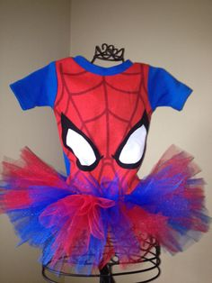 Spiderman costume spider girl shirt tutu set 18 months on Etsy, $23.00