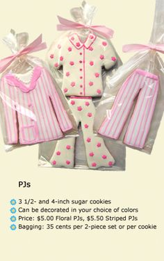 fashion decorated cookies-pjs