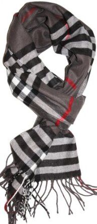 Amazon.com: SethRoberts-Classic Cashmere Feel Men's Winter Scarf in Rich Plaids (Grays): Clothing