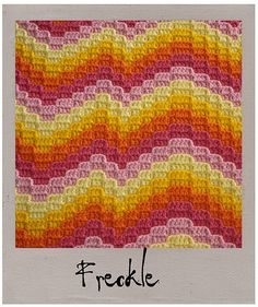 Ravelry: Not Your Nana's Needlework - Bargello Crochet pattern by Laura Pavy