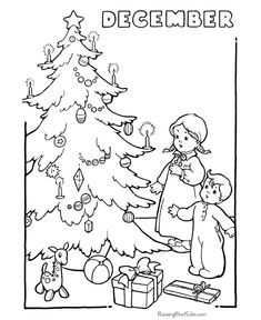 Free Printable Christmas Coloring Sheets Of Trees