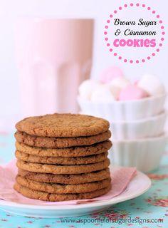 Brown Sugar and Cinnamon Cookies   A Spoonful of Sugar