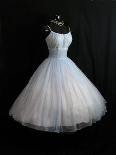 50s tulle teacup dress imagine this in baby blue