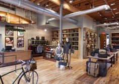 FILSON - made in Seattle bags.  Retail stores in downtown Seattle and downtown Minneapolis.