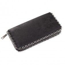 portemonnee zwart afgezet met ketting