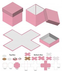 boxes box die cut box mock up box mockup Vectors, Photos and PSD files Diy Crafts Hacks, Diy Crafts For Gifts, Diy Gift Box Template, Box Template Printable, Paper Box Template, Diy Birthday, Birthday Gifts, Diy Paper, Paper Crafts