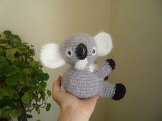 """Crochet koala pattern via """"Sheep Dog's Fleece"""" Crochet Bear, Cute Crochet, Crochet Toys, Crochet Animals, Crochet Crafts, Yarn Projects, Crochet Projects, Amigurumi Patterns, Crochet Patterns"""
