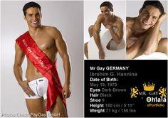 Mr. Gay Germany 2005 - Ibrahim G. Hannina - Read more: http://www.ohlalaparis.com/ohlalaparis/2006/07/mr_gay_internat.html