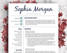 Creative Resume Template   Resume for Word and Pages   1, 2 & 3 Page Resume Template, Icon Set, Cover Letter   Instant Download CV Template