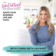 We RISE by lifting others! 🔥 I'm so excited to have my favorite Mindset Hacker, Corrie-Beth Lipowski, on the Live Out Loud Show today!!  Corrie-Beth is the Co-owner and Sports Nutrition Specialist at Pure Physique, Entrepreneur magazine's Hottest Fitness Franchise of 2019. She is also a Mindset Coach on a mission to help women make better decisions around fitness and nutrition and live healthier lives.