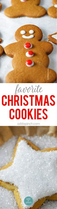 Favorite Christmas Cookies - Christmas cookies from sugar cookies to snickerdoodles, this is a list of classics and new found favorites you'll love making and sharing throughout the season! // addapinch.com
