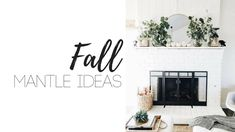 Fall is very much in the air!!Bring in the season and enjoy all the decor with some great Fall Mantle Decor ideas. Changing up your Fireplace Mantle is a small project that can make it feel like you've redesigned the entire room! Tip: Keep it on budget with items from your yard or things you […] Fall Mantel Decorations, Fall Decor, Christmas Decorations, Empty Frames, Leaf Garland, White Pumpkins, Fireplace Mantle, Decor Crafts, Home Decor