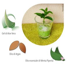 Scrub viso con olio di Argan, Aloe Vera ed olio essenziale di menta